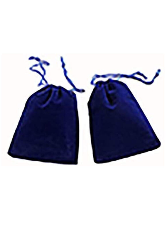 2x3inches Royal Blue Velvet Bags 10 Pcs