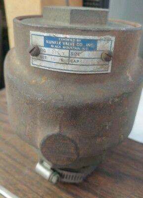 Kunkle 2 Safety Vacuum Relief Valve Fig 215v Set 15 Inhg Cap 426 Scfm B5