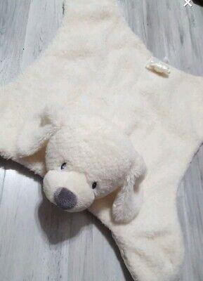 Baby Gund white Scooter puppy dog Huggybuddy security blanket Satin mat blankie