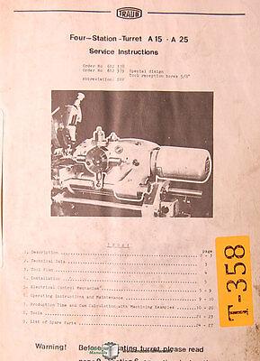 Traub A15-a25 Srv Mill Service Manual