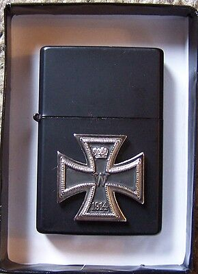 German Prussia Empire Knight King COA Iron Cross Eagle Lighter Medal Orden Pin