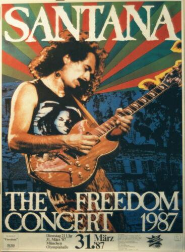 SANTANA CONCERT TOUR POSTER 1987 FREEDOM