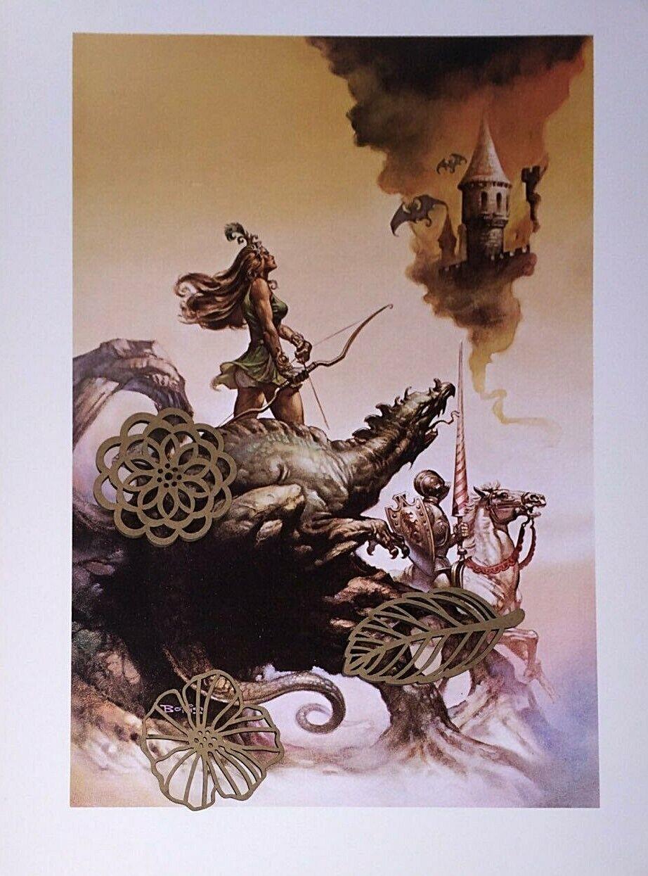 """1978 Full Color Plate /""""Haesel the Slave/"""" by Boris Vallejo Fantastic GGA"""