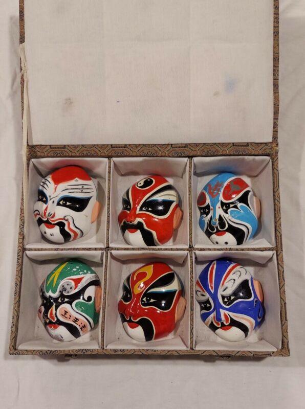 Beijing Opera Miniature Masks - Types Of Facial Makeup In Beijing Operas