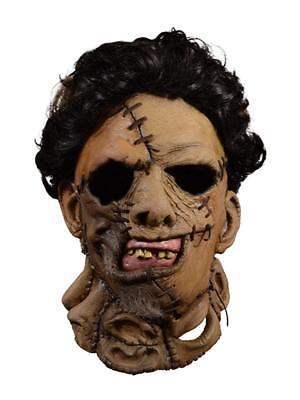 cre 2 Leatherface Erwachsene Latex Maske Kostüm (Leatherface Kostüme)