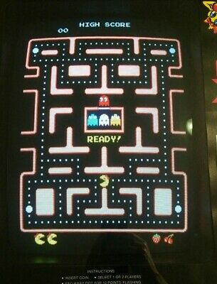 Ms Pac-Man Original Arcade PCB Board, Fully Tested and Working, w/Speed Up Chip