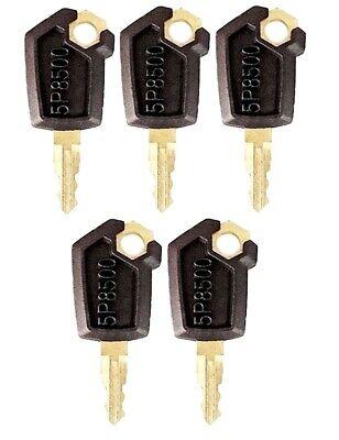 5 Keys For Cat Caterpillar Heavy Equipment Ignition Key 5p8500