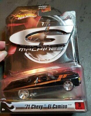 Hot Wheels G Machines '71 Chevy El Camino 1:50 Scale Black Orange Details 3 of 6