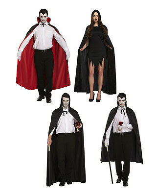 Deluxe Umhang Halloween Vampir Kostüm Mantel mittelalterlich Hexenzauber (Alten Vampir Kostüme)