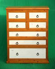 Lovely solid pine Colonial style tallboy chest,Delivery available Atwell Cockburn Area Preview