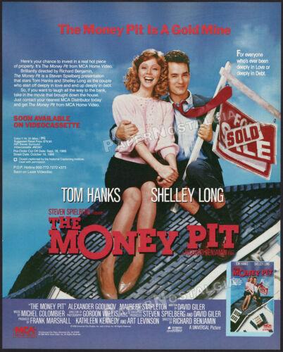 THE MONEY PIT__Original 1986 Trade Print AD / poster__Tom Hanks__Shelley Long