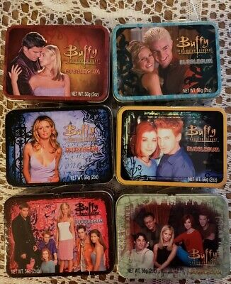 BUFFY THE VAMPIRE SLAYER MINI LUNCH BOX TIN WITH BUBBLE GUM SET OF 6