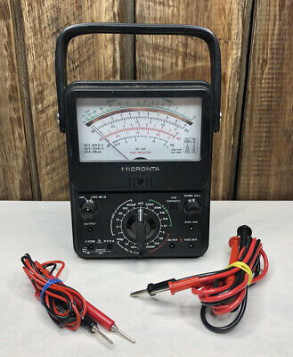 Micronta Multitester 21-range Multimeter 22-210 - With Cables