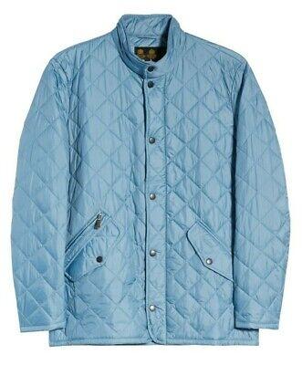 Barbour Men's Light Blue Flyweight Chelsea Quilted Full Zip Jacket $229