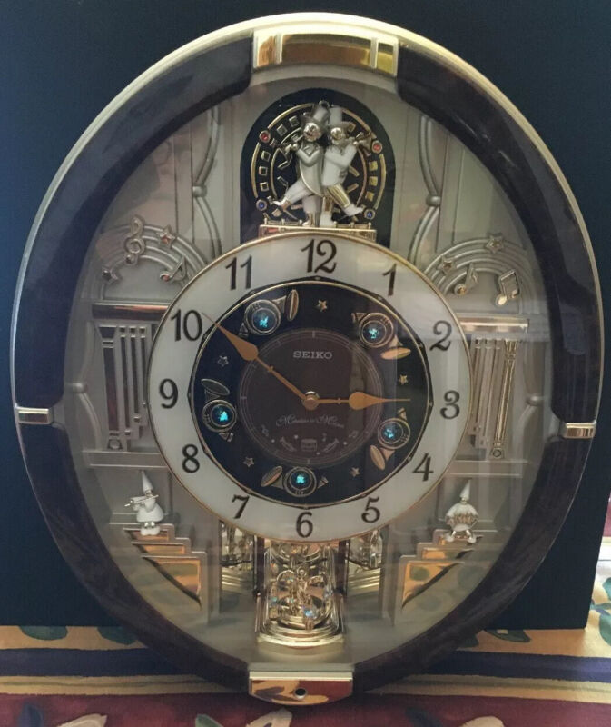 Seiko Wall Clock Melodies In Motion QXM487BRH Collectors Edition Tested Working