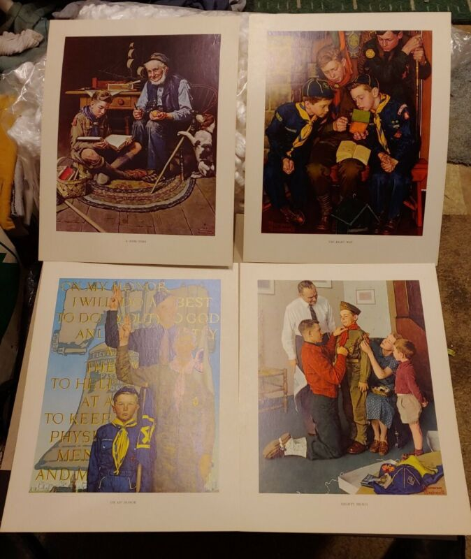 SCOUTING THROUGH THE EYES OF NORMAN ROCKWELL 4 ARTIST PRINTS SERIES II #3002