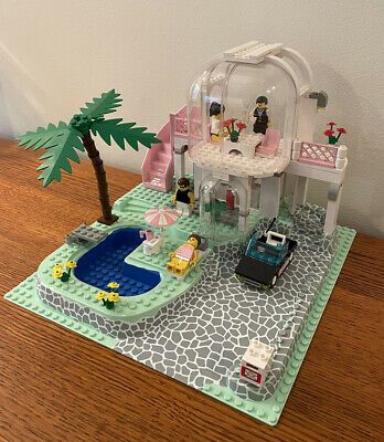 1992 Lego 6416 Paradisa Poolside Paradise 99% Complete w/ Instructions & Box