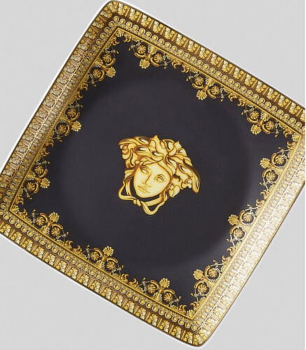 VERSACE ASH TRAY MEDUSA GOLD BLACK LUXURY VALENTINES GIFT SALE NEW in BOX