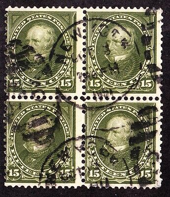 US 284 15c Clay Used Block of 4 VG-Fine SCV $90