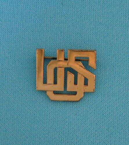 USO (United Service Organizations) pinback collar/hat badge - Original, sterling