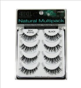 ARDELL DEMI WISPIES NATURAL MULTIPACK FALSE EYELASHES #240494, 4 PAIRS