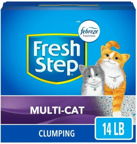 Fresh Step Scented Litter with The Power of Febreze, Clumping Cat Litter – 14 lb