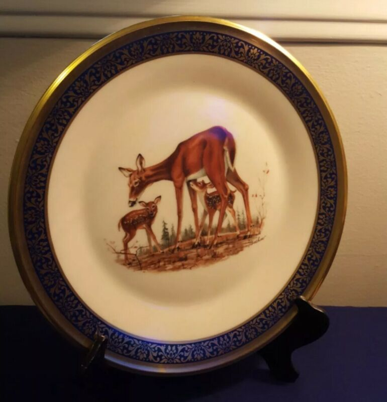 """Lenox Boehm Woodland Wildlife """"Whitetail Deer"""" Plate 1978 Annual Limited Edition"""