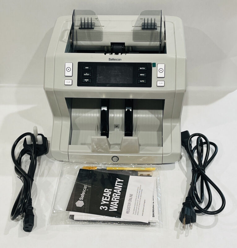 Safescan 2650 High-Capacity Bill Counter with 3-point Counterfeit Detection