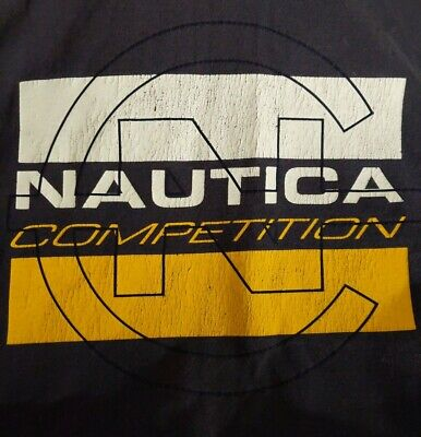 Vintage NAUTICA COMPETITION double sided  t-shirt size men's XL