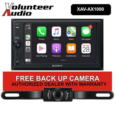 """Sony XAV-AX1000 6.2"""" Double Din Media Receiver Apple CarPlay Free Backup Camera"""