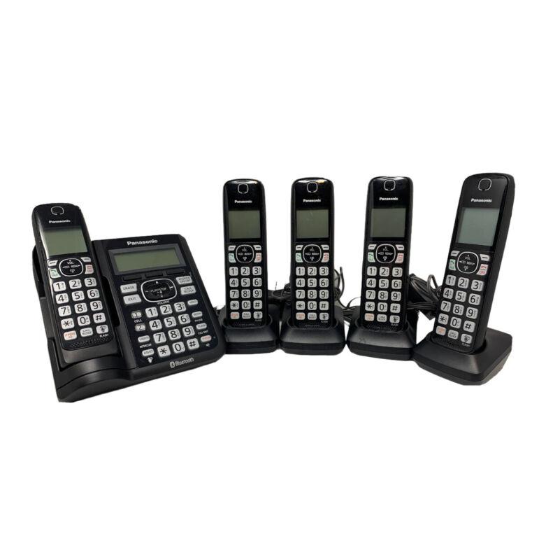 Panasonic KX-TGF570 Bluetooth Cordless Phone Answering Machine 5 Handsets