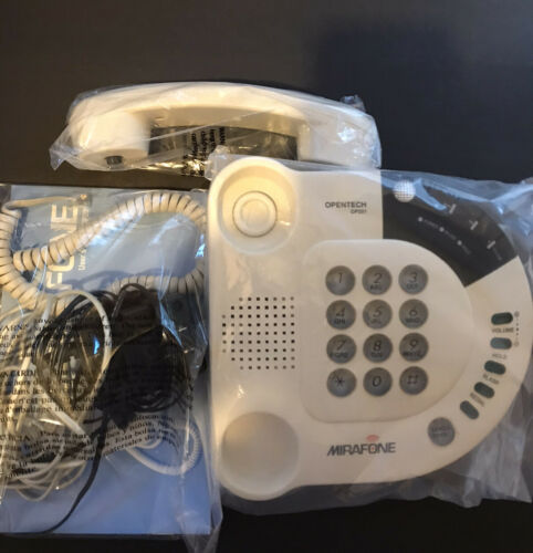 Mirafone OP201 Hearing Impaired Telephone Direct Vibe Pulsator Opentech Tested