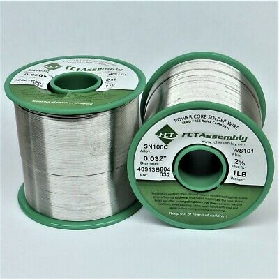 Sn100c Ws101 Lead Free Solder Wire Water Soluble .032 Dia. 1 Lb.
