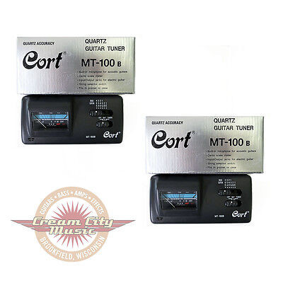 2 x Cort Guitar Bass Electronic Tuner Acoustic Electric Instrument Mt100B