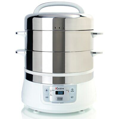 17-Quart Stainless Steel 2 Tier Electric Food Steamer