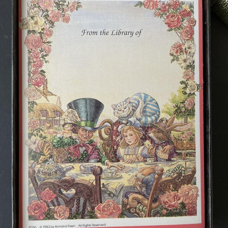 Vintage Alice in Wonderland Tea Party Antioch Children's Classic Bookplates