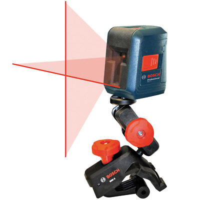 Bosch Tools Gll2 Self-leveling Cross Line Laser Wflexible Mount New
