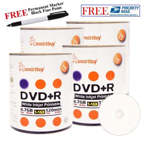 Smart Buy 400 Smartbuy 16x Dvd+r 4.7gb White Inkjet Print...