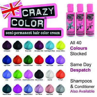 Crazy Color Semi-Perm Conditioning Hair Dye Color & SUPPORTING PRODUCTS