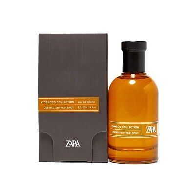 ZARA Men's New Fragrance #Tobacco Collection Unexpected Fresh Spicy 3.4 .oz New