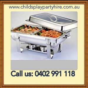 Chafing Dishes, Fairy Floss, Chairs, Tables and Party Equipment Hire Craigieburn Hume Area Preview