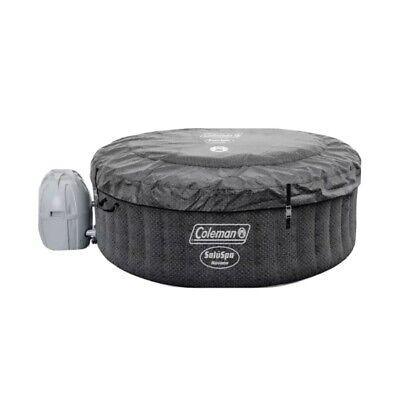 "Coleman SaluSpa 4 Person Square Portable Inflatable Outdoor Hot Tub Spa 71"" x 26"