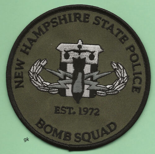NEW HAMPSHIRE STATE POLICE BOMB SQUAD SHOULDER PATCH Subdued