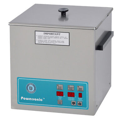 New Crest Powersonic P500d-45 1.5 Gal Heated Ultrasonic Cleaner 500pd045-1