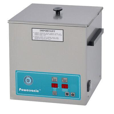 New Crest Powersonic P500h-45 1.5 Gal Heated Ultrasonic Cleaner 500ph045-1
