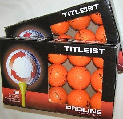 30 Titleist Velocity Orange balls grade AAAAA Best Titleist 5A balls LOT (Best Orange Golf Balls)