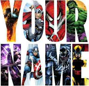 Marvel Avengers Letter Name Stickers Wall Deco Decal 3