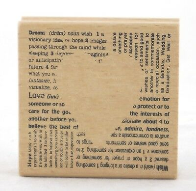 - Cutout Heart Wood Mounted Rubber Stamp Stampendous NEW love valentines wedding