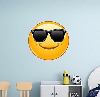 Cool Sunglasses Emoji Wall Decal Sticker Apply Iphone - Cool Sunglasses Emoji