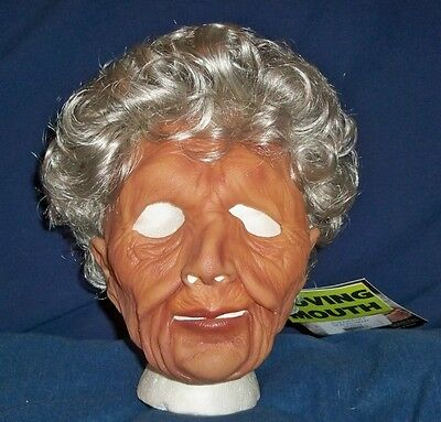 Latex Wig (OLD WOMAN GRANDMA GRANNY SOFT LATEX MASK WIG COSTUME)